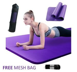 NBR Yoga Mat 10 15 20 Thick  Pad Nonslip Exercise Fitness Pilate Gym Mesh Bag
