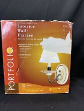 Portfolio Interior Wall Fixture Sconce Country White & Red Cottage Collection