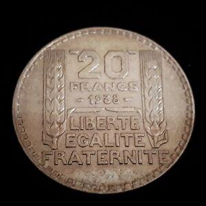 *** 20 Francs TURIN 1938 *** argent