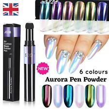 Pen Mirror Nail Chrome AURORA Powder Air Cushion Unicorn Solid Stick Dust White