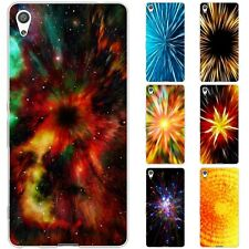 Dessana Abstract Explosion Silicone Protective Case Case Pouch Cover for Sony