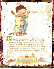 MABEL LUCIE ATTWELL PLEASE REMEMBER VINTAGE STYLE 8x10in20x25cmpub bar shop cafe