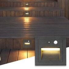 3W LED Wandeinbaustrahler Leuchte Treppen Stufenlicht Bewegungsmelder Alu 230V