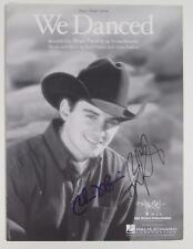 "BRAD PAISLEY Signed Autograph ""We Danced"" Sheet Music"