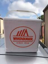Official Whataburger Styrofoam Drink Cooler Chest