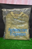 ANCIEN SAC BAGAGE EMBALLE PUBLICITAIRE AMERICAN EXPRESS VALISE AVION