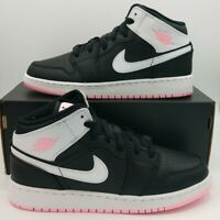 New Nike Air Jordan 1 Mid GS Artic Pink/Punch White [555112-061] Size 5.5y / 7W