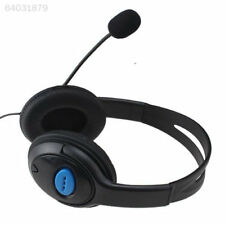 9452 Wired Chat Gaming Headset Earphone For Sony Playstation4 PS4 W/VOL Black