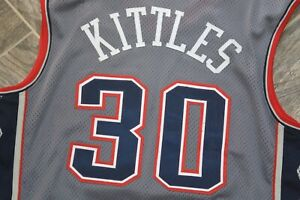 1998-99 Authentic AUTOGRAPHED New Jersey Nets KERRY KITTLES Champion 46+ PRO CUT