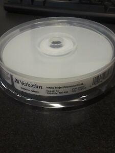10 pcs. Brand New Verbatim White Injet Printable BDXL 100 GB Discs