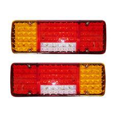 2X 12V 98 LED TRAILER TRUCK BUS VAN STOP REAR TAIL INDICATOR LIGHTS REVERSE LAMP