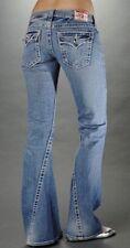 True Religion Womens Jeans Disco Joey Big T Boot Cut Flap Pocket Bling Sz 26×31
