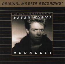 RARE MFSL GOLD CD - Bryan Adams - Reckless      (MFSL UDCD 544)