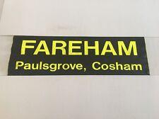 "Hoeford / Portsmouth Bus Blind May99 2 36""- Fareham Paulsgrove Cosham"
