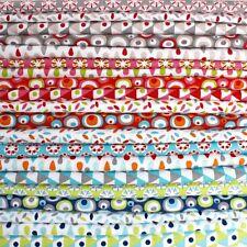 25cm Cuadrados Lote Gráficos Todos colores Tela De Algodón Patchwork Acolchado