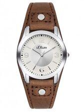 s.Oliver Damenuhr Uhr Modern Leder Braun einfach ablesbar SO-2946-LQ