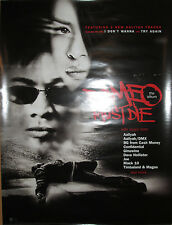 ROMEO MUST DIE Soundtrack, Warner promotional poster, 2000, 18x24, EX!