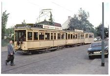 Foto im AK-Format, Berlin Marienfelde, Daimlerstr., Straßenbahn, 1966