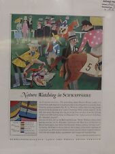 Original 1960 Vintage Mounted Advert ready to framed Schweppes Horse racing