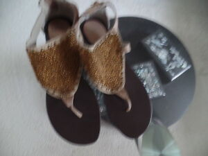 BRONX BEAUTIFUL BEADED SHOES/ SANDALS MADE IN INDIA SZ 40 MINT/SALE