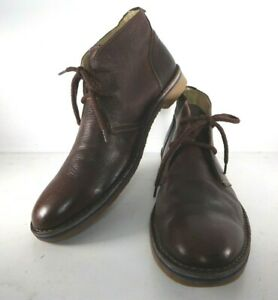 HENRI LLOYD MENS BROWN LEATHER LACE UP BOOTS SIZE 46 UK 11