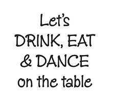 Sellos De Goma Fiesta Boda etiquetas de nombres beber, comer y bailar en la mesa