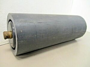 """Poly Conveyor Troughing Idler Roller  4"""" Dia  10-3/8"""" Surface  3/4"""" Solid Shaft"""