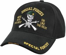 Special Forces Cap Black - Deluxe Low Profile Insignia Hat