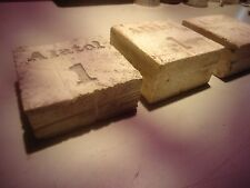 Alatol # 1 and # 3 sharpening stones, 3 inch squares _A-12