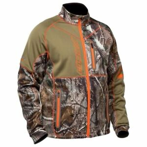 New Men's Castle Fusion Mid-Layer Jacket ~ Camo/Orange ~ L ~ # 78-1096