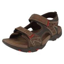 Sandales marron avec attache auto-agrippant pour garçon de 2 à 16 ans