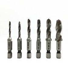 6PCS Shank HSS Quick-Change Combined Tap Screw Drill Bit M3/4/5/6/8/10 Set