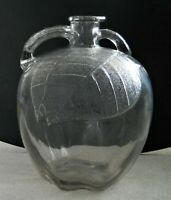 Vintage Jug Pitcher White House Apple Cider Vinegar Glass Bottle Gallon 10""