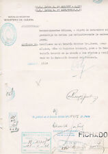"Argentina President Roberto María Ortiz 1886-1942 autograph document 8""x12"""