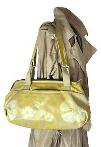MANDARINA DUCK bag. Yellow leather Hummingbird shoulder bag. Vintage.