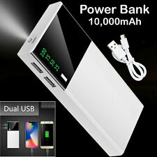 External 10000mAh Power Bank LCD LED USB Battery Charger For all Mobile Phones