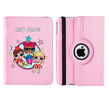 LOL Doll 06 Name Personalised iPad 360 Rotating Case Cover Birthday Present Gift