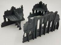 City Ruins Chapel Warhammer 40K Wargaming Terrain Large Corner Section