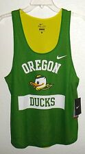 NWT WOMENS S NIKE DRI-FIT OREGON DUCKS MESH TANK TOP JERSEY SHIRT APPLE GREEN