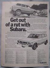 1979 Subaru Original advert