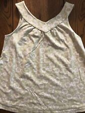 Gymboree Beach Shack Green Floral Tank Top Girls Sleeveless Shirt Size 12