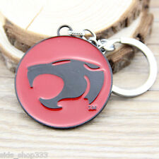 """THUNDERCATS logo Metal Red Black Key chain 2"""" Round cosplay collectible"""