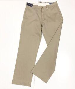 ralph lauren Men's Classic Fit Flat Front Cotton Chino. Size-32W/30 L