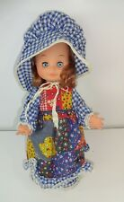 "Vintage - Holly Hobbie PLAYMATES 13"" Hard Body Sleepy Eye Doll 1970s Era"
