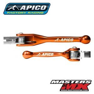 APICO FACTORY ORANGE FLEXI PIVOT BRAKE & CLUTCH LEVERS - KTM 350 FREERIDE 2013