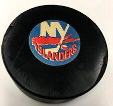 1972-77 New York Islanders Converse NHL Hockey Puck Rubber Crest Screened Back