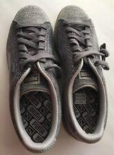 PUMA SILVER Knit Metallic Sneakers MEN'S Size 11 M RUBBER SOLE  BASKET NEW SHINE