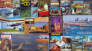 7 lbs of Milwaukee WI. WISCONSIN, Postcards 140 Standard cards 5 lbs NEW Chromes