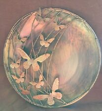 "(1) 12"" Ancient Graffiti Butterfly Raised Wall Disc Ag-83249"