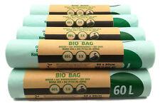 50 Stück 60 Liter Bio Müllbeutel 60x80 cm, DIN EN 13432, kompostierbar, reißfest